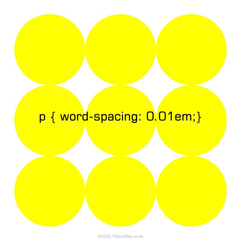 word-spacing